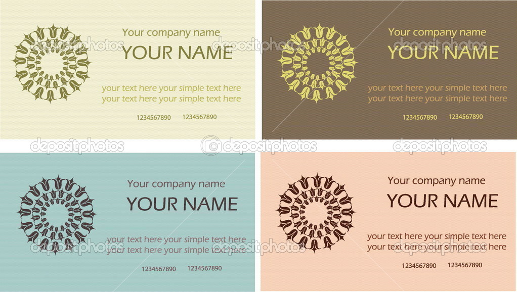 Some visit cards with flower and your company name  Stock Vector #1462708