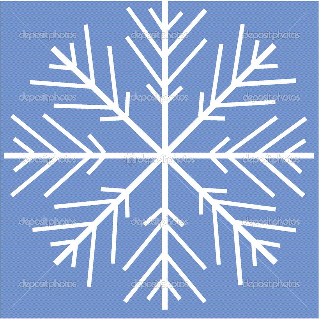 A vectorial image is a snowflake — ベクター素材ストック #1639239