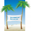 Place for rest on a beach its a perfect — Stock Vector