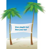 Place for rest on a beach its a perfect — Vector de stock