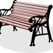 A bench is in a park - Stock Vector