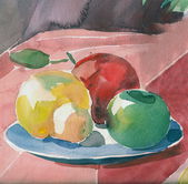 Still life with fruit — 图库照片