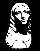 Sculpture of head of woman — Stock Vector