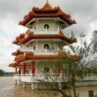 Twin pagoda in Chinese garden, Singapore — Stockfoto