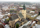 Aerial view of Latin Cathedral — Stock Photo