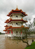 Twin pagoda in Chinese garden, Singapore — Stock Photo