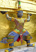 Statue of demon in Thailand temple — Stock Photo