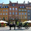 Market square, downtown Warsaw, Poland - Stock Photo
