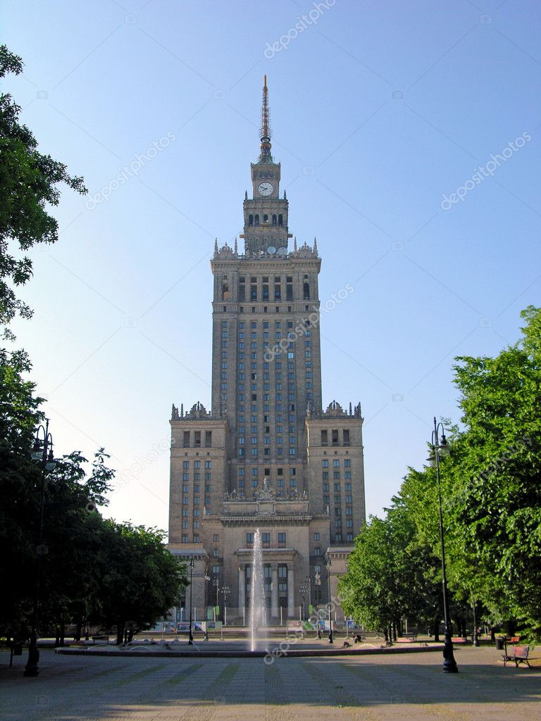 One of the highest building of Europe - Palace of Culture and Science in Warsaw, Poland — Stock Photo #1144722