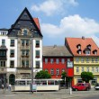 Colourful houses in Erfurt, Germany — Stock Photo