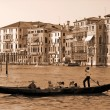 gondole sur le grand canal, Venise — Photo