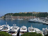Luxury yachts in Monaco harbor — Stock Photo