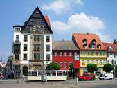 красочные дома в эрфурте, германия — Стоковое фото