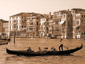 Gondola on the Grand Canal, Venice — Stock Photo