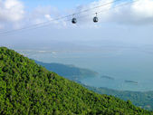 Langkawi hill cable car, Malaysia — Stock Photo