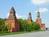 Kremlin towers in Moscow, Russia — Stockfoto