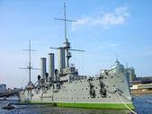 极光巡洋舰博物馆在圣彼得堡 — 图库照片