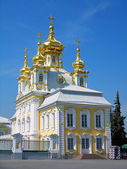 Orthodox church, Peterhof, Russia — Stock Photo