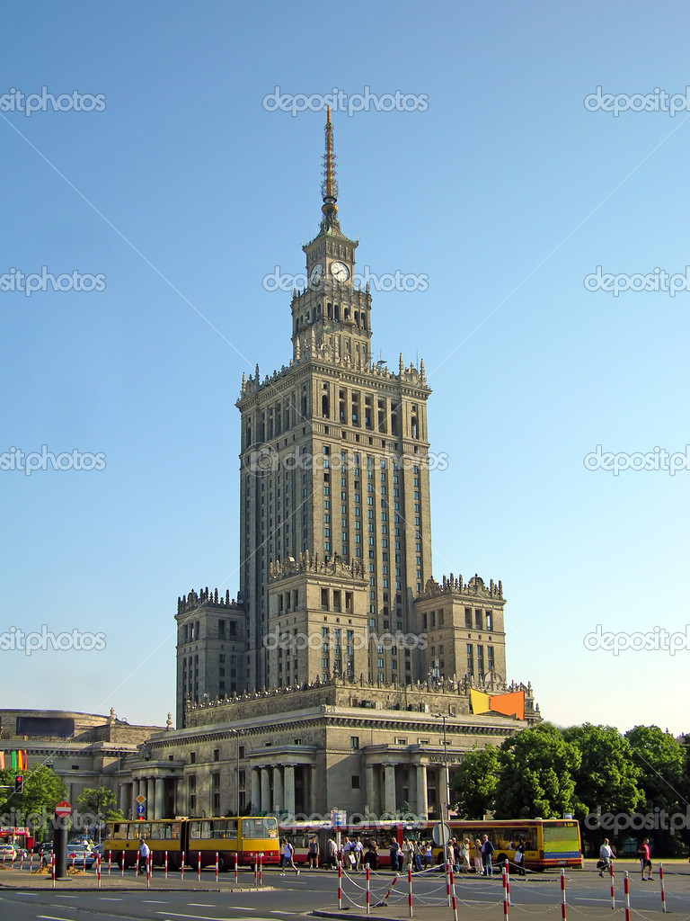 Palace of Culture and Science, Warsaw, Poland — Stock Photo #1244193