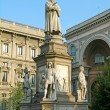 Statue of Leonardo in Milano — Stock Photo #1258743