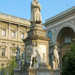 Statue of Leonardo in Milano — Stock Photo