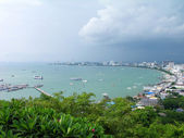 Vista de pájaro Pattaya city — Foto de Stock