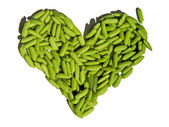 Heart made of rice — Stock Photo