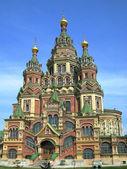 Kathedrale in peterhof, russland — Stockfoto