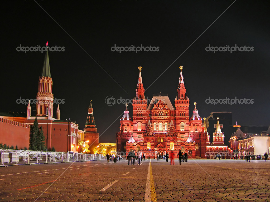 Red Square at night, Moscow, Russia — Stock Photo #1258249