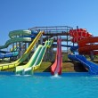 Stock Photo: Aquapark slides