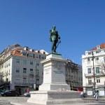 Duque da Terceira square in Lisbon — Stock Photo