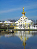 West wing of the Big Palace in Peterhof — Stock Photo