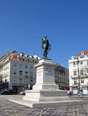 Duque da Terceira square in Lisbon — Stock Photo