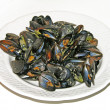 Plate of mussels — Stock Photo