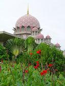 Mezquita putra en putrajaya, malasia — Foto de Stock