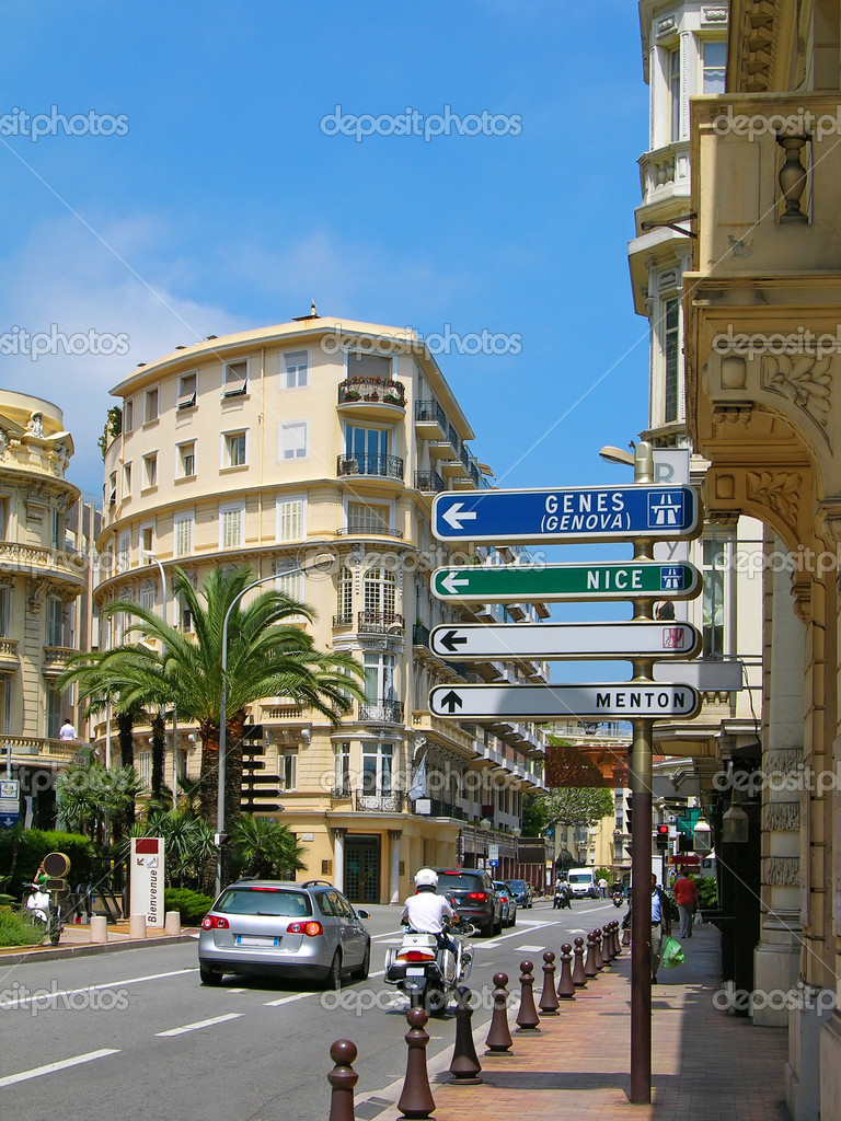 Street of Monte-Carlo, Monaco  Stock Photo #1419904