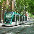 Modern tram in Barcelona — Stock Photo #1462782