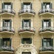 Building facade, Barcelona — Stock Photo