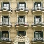 Building facade, Barcelona — Stock Photo