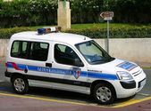 Marseilles police car — Stock Photo