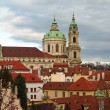 St. Nicolas Church, Mala Strana, Prague - Stock Photo