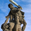 Battling Titan near Prague Castle — Photo