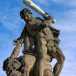 Battling Titan near Prague Castle — Stockfoto