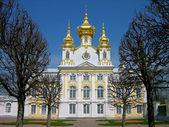 Kirche des großen palastes, peterhof, russland — Stockfoto