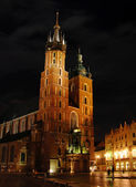 St. Mary's Basilica, Krakow, Poland — Stock Photo