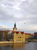 Vltava river embankment, Prague — Stock Photo