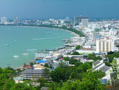 Pattaya city bird eye view, Thailand — Stock Photo