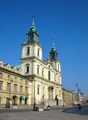 Santa cruz iglesia, varsovia, polonia — Foto de Stock