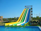 Aquapark slides — Stock Photo