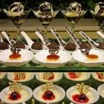 Variety of desserts — Stock Photo
